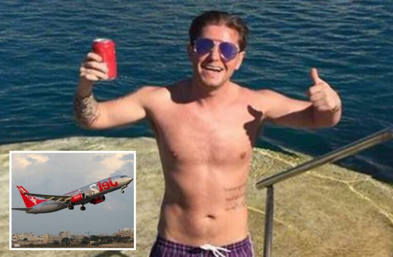 Boozed-up Jet2 passenger had to be locked in plane toilet after trying to BITE cabin crew in drunken rage