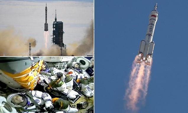 China successfully launches three astronauts to its space station