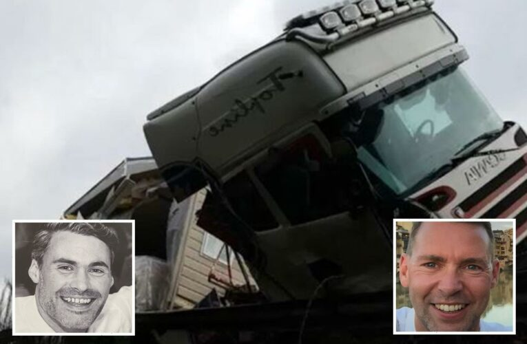 Cost-cutting haulage boss guilty of manslaughter after lorry with faulty brakes killed two pals in horror road smash