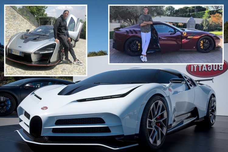 Cristiano Ronaldo's amazing car collection worth £17m after splashing out on a limited edition Ferrari Monza worth £1.4m – The Sun