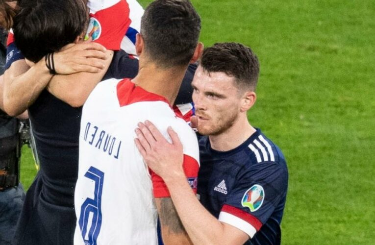 Dejan Lovren sends old Liverpool pal Andy Robertson classy message after Croatia KO Scotland from Euro 2020
