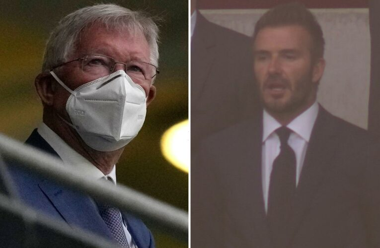 England vs Scotland sees sporting royalty at Wembley as David Beckham and Alex Ferguson watch on