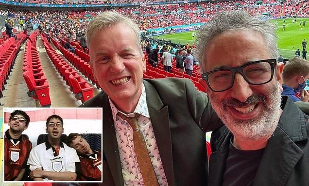 Euro 2020: 'Three Lions' stars Baddiel and Skinner reunite at Wembley