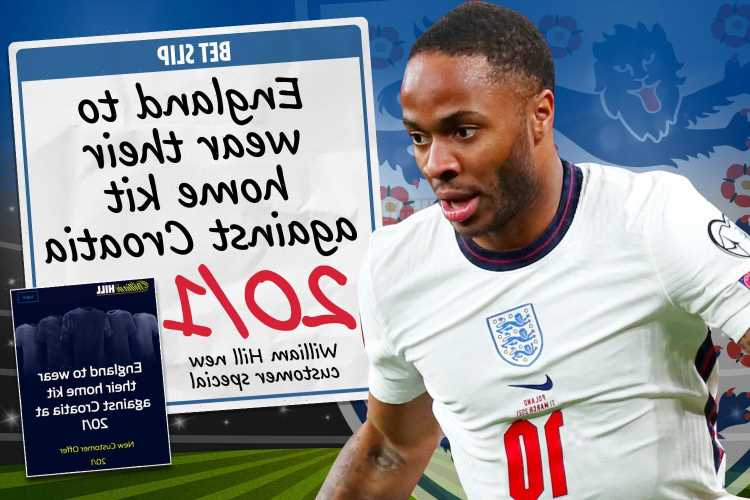 Euro 2020 betting special: Get England at 20/1 to wear white home kit against Croatia during opener at Wembley