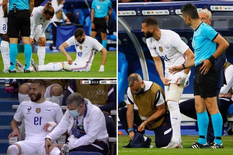 France suffer huge Karim Benzema injury scare as recalled Real Madrid striker forced off one week before Germany opener
