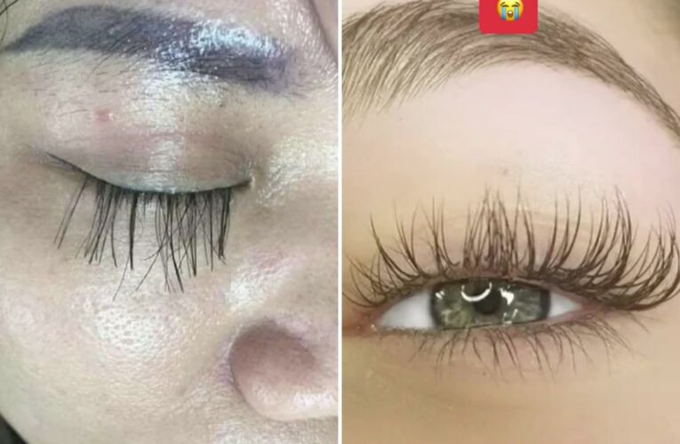 Girl furious after splashing out £60 on botched lash extensions which look like 'toddler stuck on pieces of string'