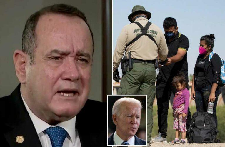 Guatemalan president blames Biden immigration policy for border crisis