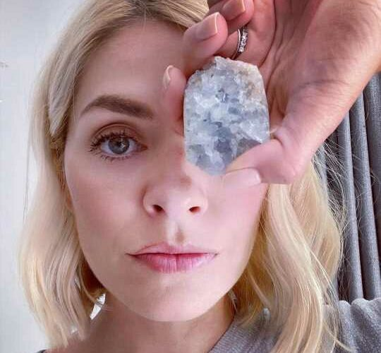 Holly Willoughby is targeted in bizarre satanism row after posing with healing crystal