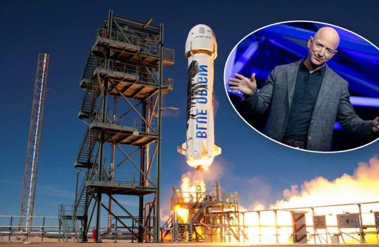 Jeff Bezos teased over phallic-shaped rocket Blue Origin