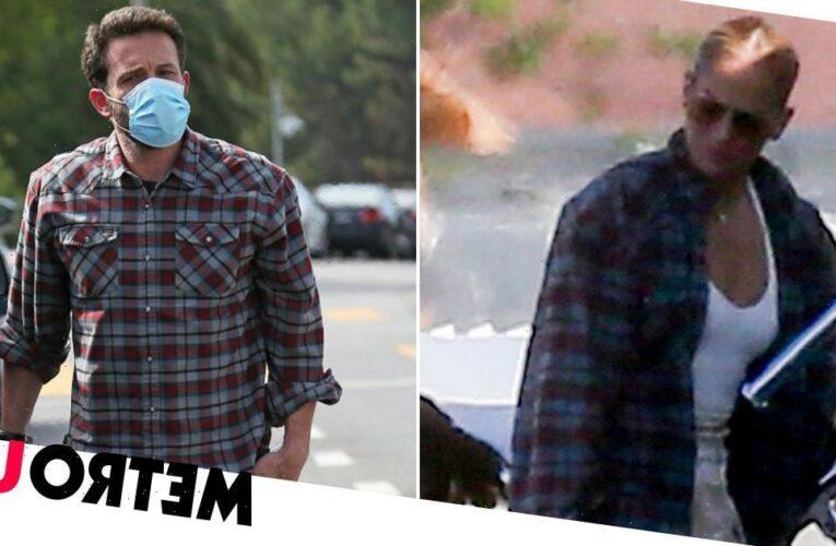 Jennifer Lopez 'borrows' Ben Affleck's shirt for flight amid reunion rumours