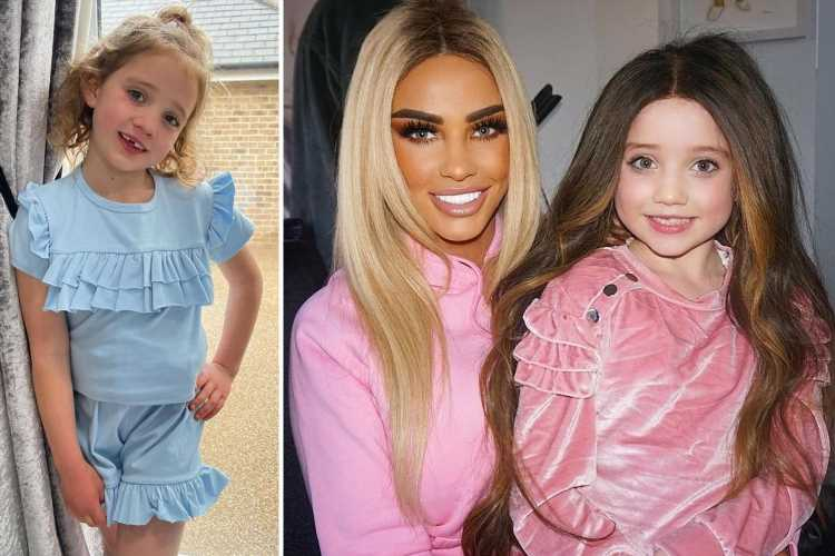 Katie Price's daughter Bunny, 6, looks unrecognisable as she poses in one of her wigs in sweet snap