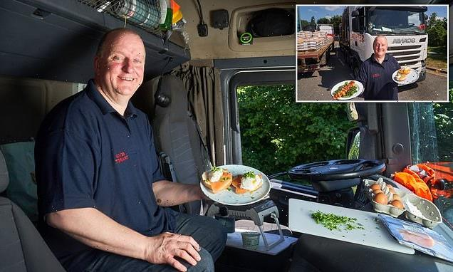 Lorry driver reveals he cooks gourmet meals on his truck's slow cooker