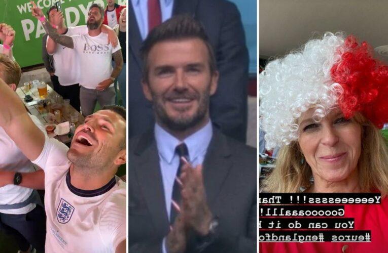 Mark Wright, David Beckham, and Kate Garraway lead stars celebrating England's Euro 2020 victory against Germany