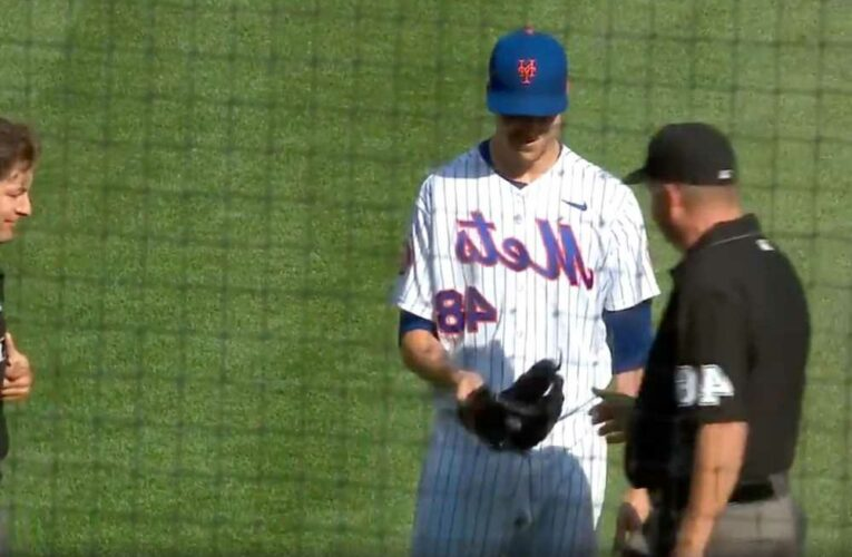 Mets' Jacob deGrom first pitcher checked for foreign substances under new MLB protocol