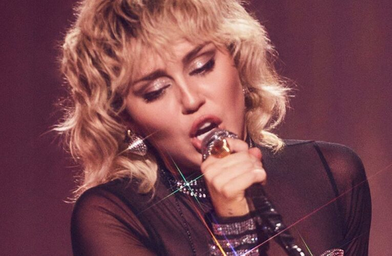 Miley Cyrus shows off mullet and killer figure in sheer leotard for Pride month