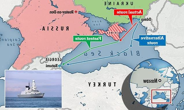 Military chiefs knew Navy warship's Crimea journey would annoy Russia