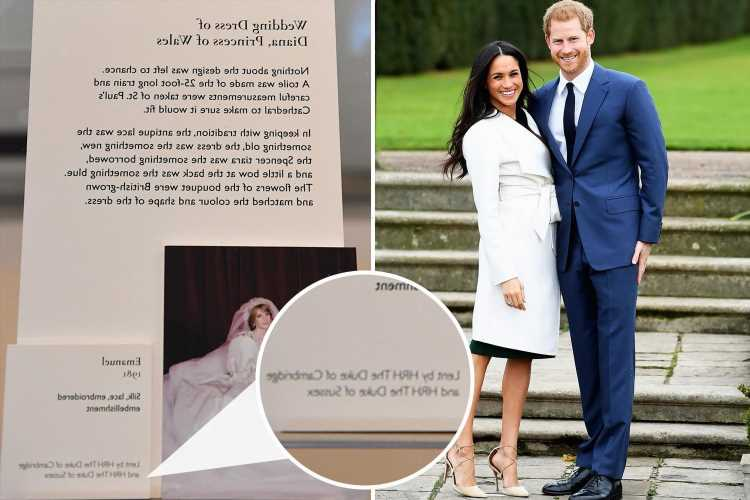 Prince Harry loses HRH title at Princess Diana exhibition after lending mum's wedding dress to Royal Collection Trust