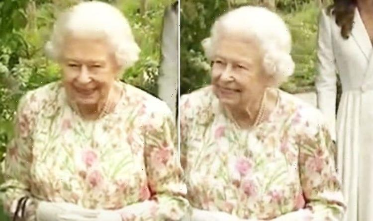 Queen Elizabeth II dresses for summer in floral gown and no brooch at G7 reception