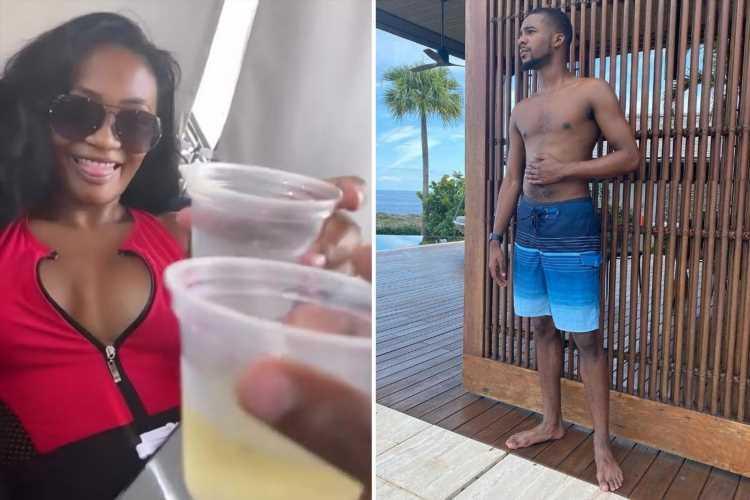 RHOA's Falynn Guobadia has drinks with 'friend' Jaylan Banks after ex Simon accused them of having an 'affair'