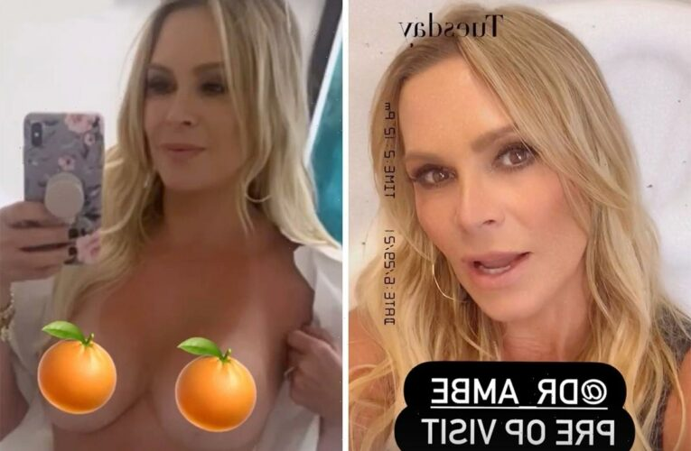 RHOC's Tamra Judge posts topless photo and reveals she's taking her breast implants OUT in new surgery