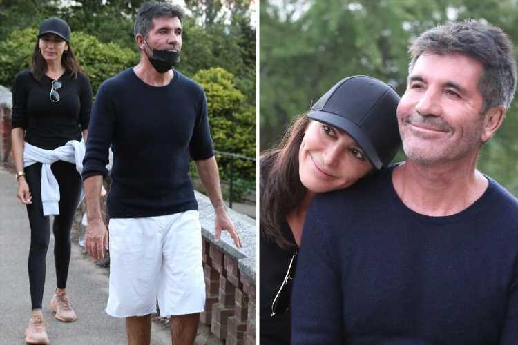 Simon Cowell beams as he completes 10k charity walk with girlfriend Lauren Silverman