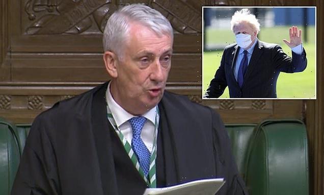 Sir Lindsay Hoyle blasts Boris Johnson over Covid rules announcement