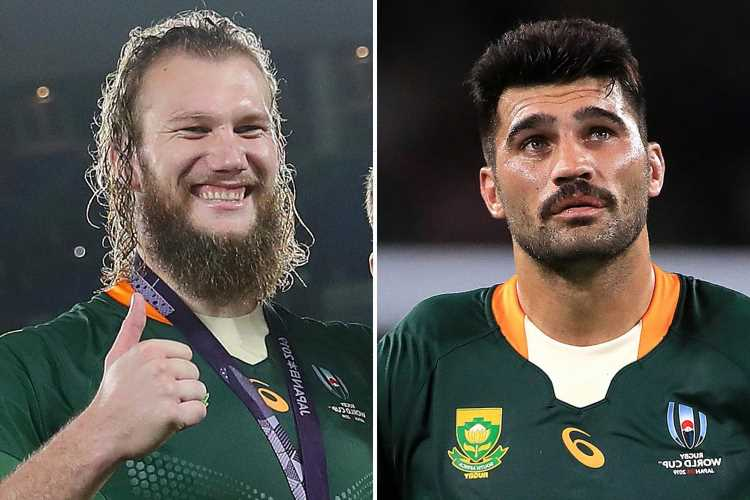 South Africa stars De Allende and RG Snyman suffer burns to face, legs and hands after freak fire pit explosion
