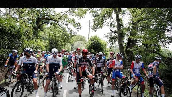 Tour de France Riders Protest During Race For Safer Conditions After Crashes