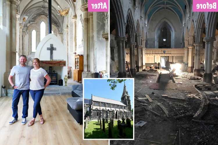 We bought a run down church for £85k at auction – now it's a 4-bed worth £1 million, we did most of the work ourselves