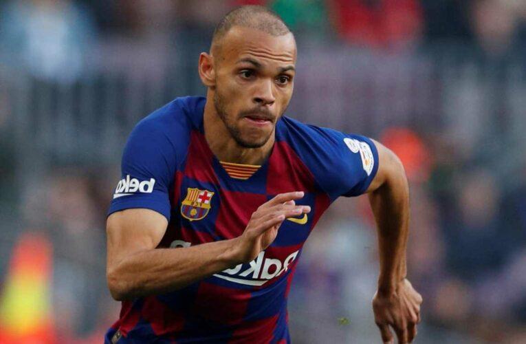 West Ham set for transfer battle with Brighton, Burnley and Norwich for Barcelona striker Martin Braithwaite