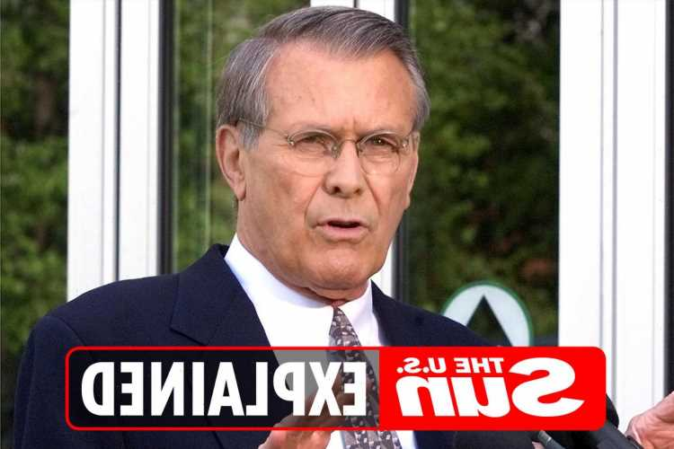 Who was Donald Rumsfeld and what was his cause of death?