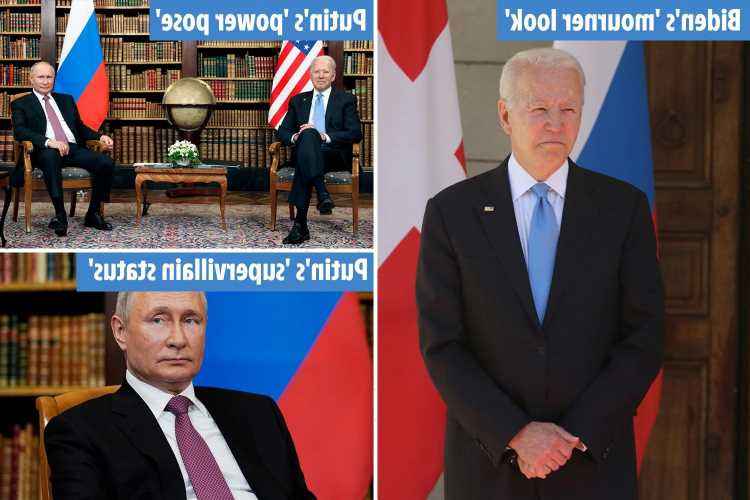 'Supervillain' Putin went 'full Alpha mode' while 'scared' Biden looked like a mourner at summit, expert says