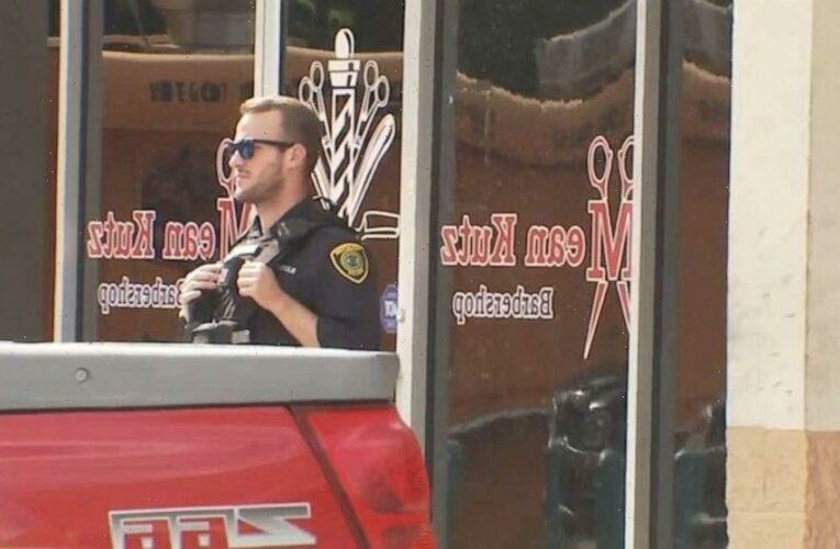 3 shot outside barbershop after argument between 2 men over who won foot race a month ago