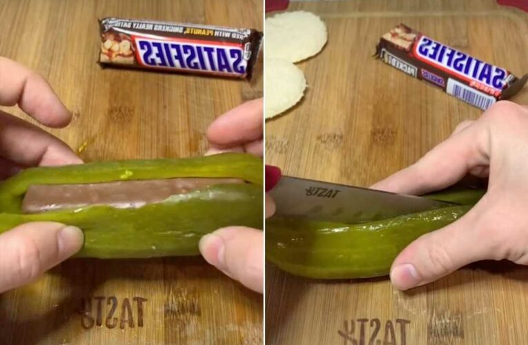'Snickles' made of Snickers-stuffed pickles are the new bizarre food trend