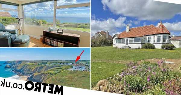 A cliff-top home in Cornwall is on the market for £1.35million