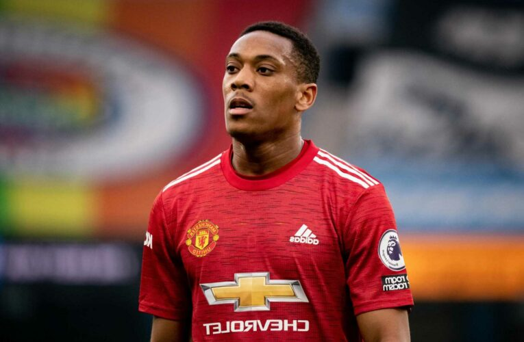 Anthony Martial back in Man Utd training as he recovers from devastating knee injury he suffered in March