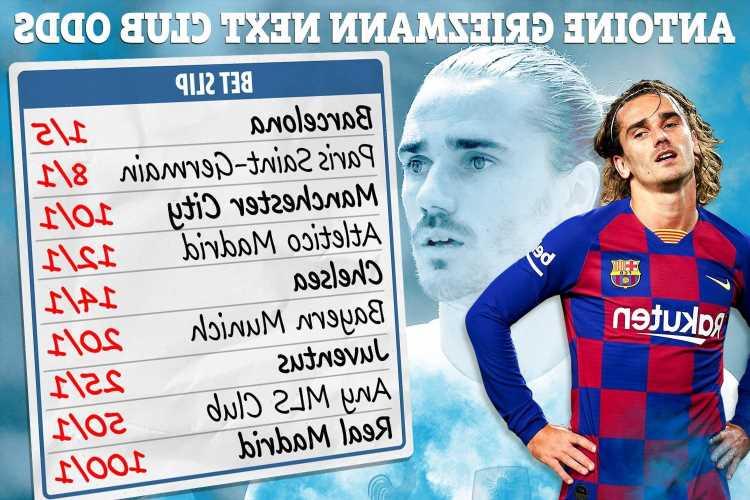 Antoine Griezmann next club odds – Chelsea & Man City trail PSG in transfer battle for Barcelona star, Real Madrid 100/1