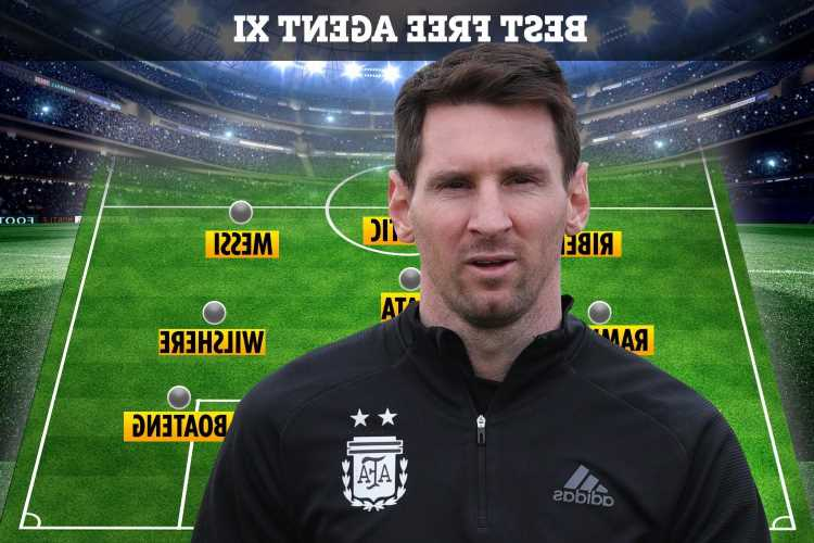 Best XI of free agents clubs can sign TODAY including Lionel Messi, Sergio Ramos and Giorgio Chiellini
