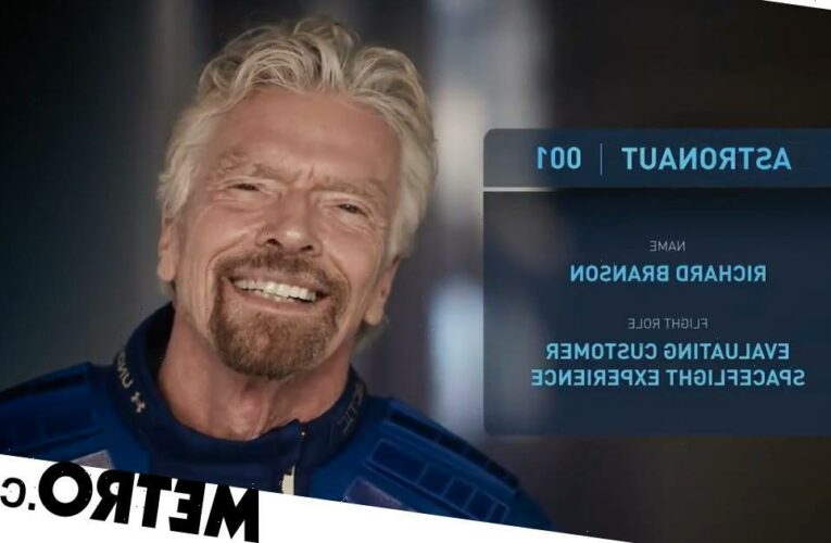 Branson dubs himself 'Astronaut 001' and will fly to space before Jeff Bezos