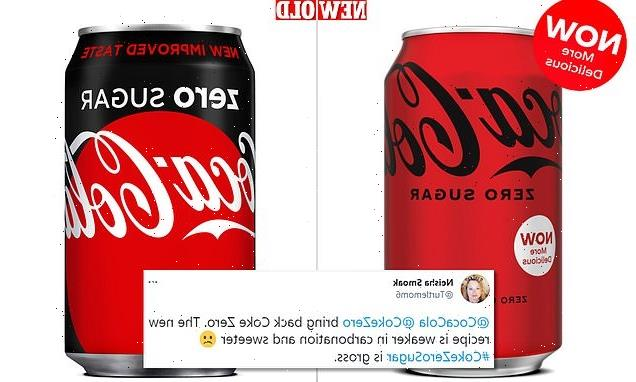 Coke Zero gets new taste and new can, once again receives backlash