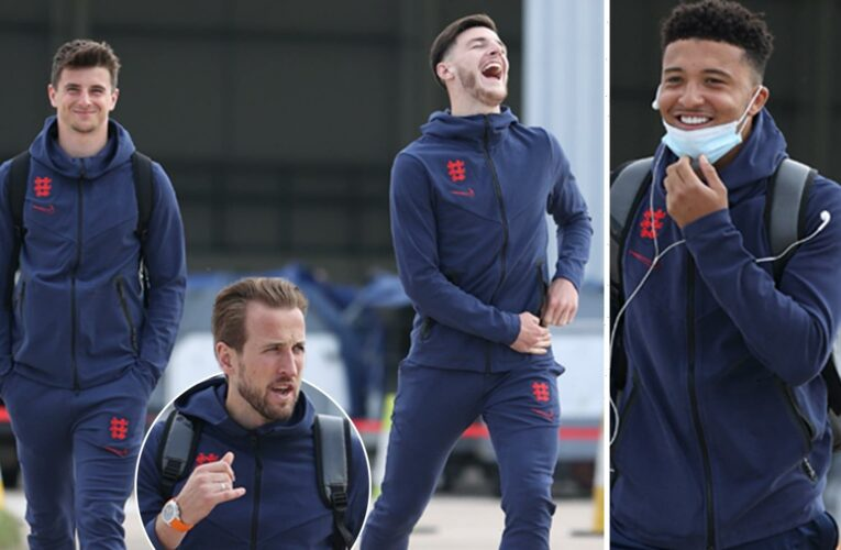 England stars jet off to Rome for Euro 2020 quarter-final against Ukraine after final training session