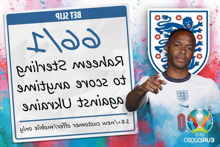 Euro 2020 – England vs Ukraine: 66/1 odds boost for Raheem Sterling to score at any time