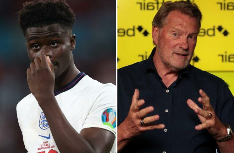 Glenn Hoddle urges brave England star Bukayo Saka to see sports psychologist to overcome penalty shootout heartbreak