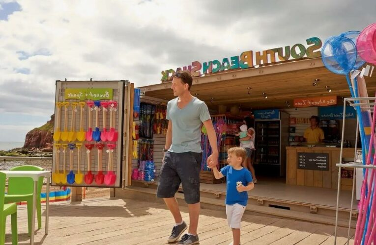 Haven adds outdoor bars, Burger King kiosks and big screens at its holiday parks in time for the school holidays