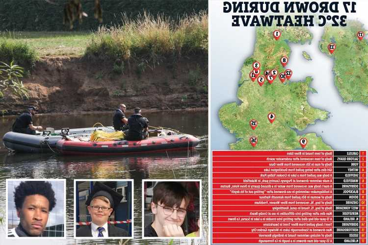 How to stay alive in the water as heatwave drowning death toll hits 17 including boy, 13,and at least 6 other teenagers
