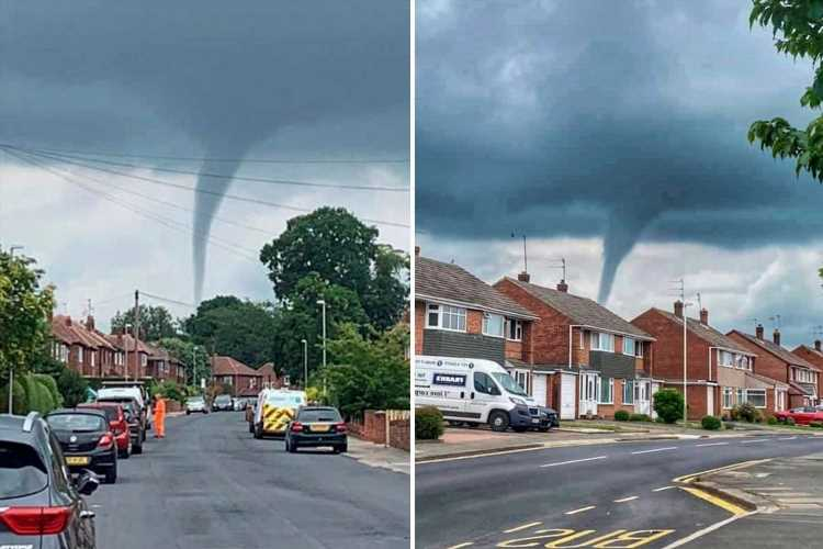 Huge 'TORNADO' spotted in UK just hours after twister as storms batter nation