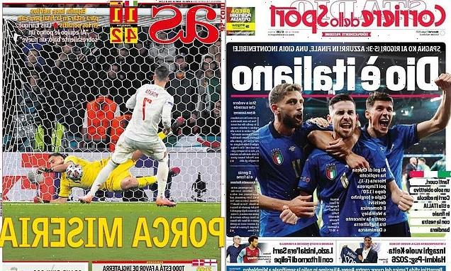 Italy papers claim 'God is Italian' after Euro 2020 semi-final win