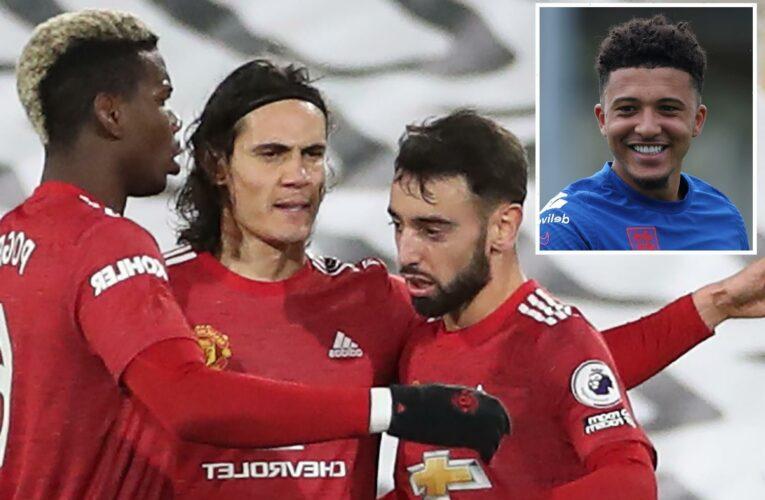Jadon Sancho will improve Bruno Fernandes, Paul Pogba and Edinson Cavani after Man Utd transfer, says former coach