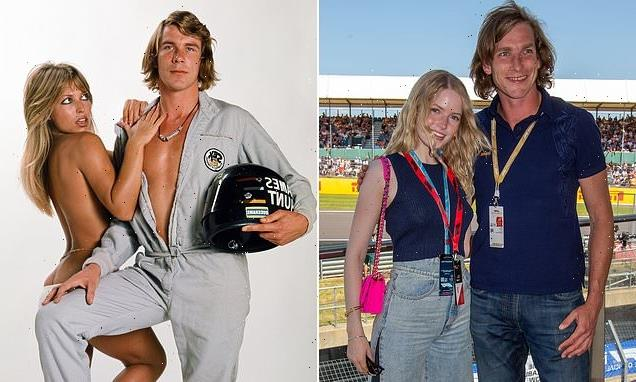 James Hunt's son pictured with actress Ellie Bamber at Silverstone