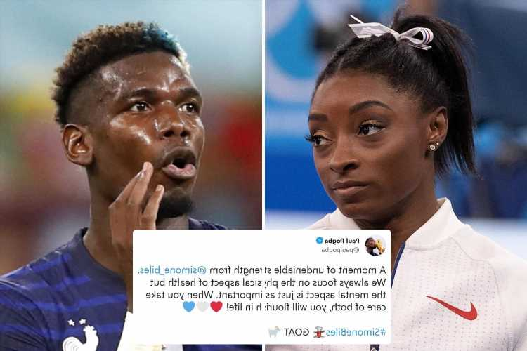 Justin Bieber, Paul Pogba and Ronda Rousey rally around Simone Biles after she pulls out of Olympics over mental health